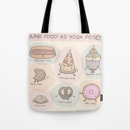 Junk Food as Yoga Poses Tote Bag