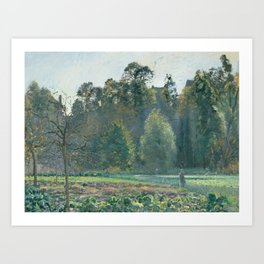 Camille Pissarro - The Cabbage Field, Pontoise Art Print