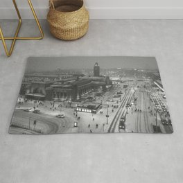 Finland City (Black and White) Rug