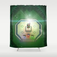 sword Shower Curtains featuring Master Sword by VGPrints