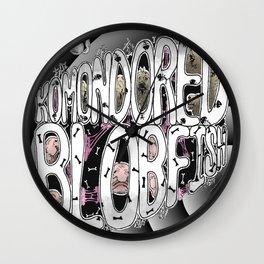 Komondored Blobfish Logo Wall Clock