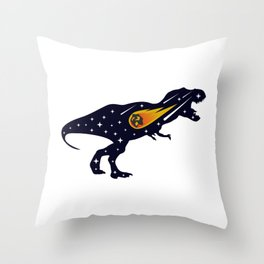 Dinosaur and meteorite strike #society6 #decor #buyart #artprint Throw Pillow