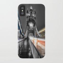 Tower Bridge at night iPhone Case