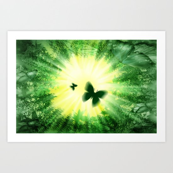"""The sun and the """"Butterfly - Effect""""! Art Print"""