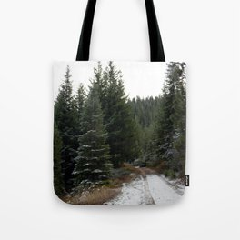 First winter snow.. Tote Bag