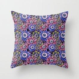 The Devil's Flower Garden - Demonic Eyeball Flowers Throw Pillow