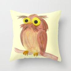 the nice owl Throw Pillow