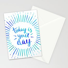 Today is Your Day (TURQUOISE) Stationery Cards