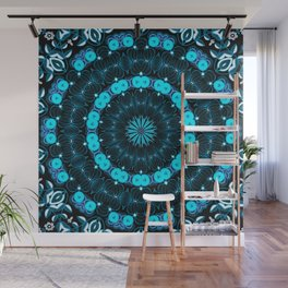 Folklore Cabin (blue) Wall Mural