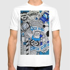 Livin' For The City Mens Fitted Tee White MEDIUM