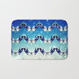 Bostons In The Sky With Diamonds Bath Mat