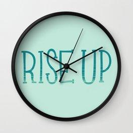 Rise Up Wall Clock