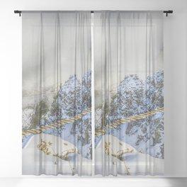 Suspension bridge Sheer Curtain