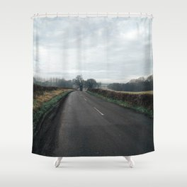 from top of the hill Shower Curtain