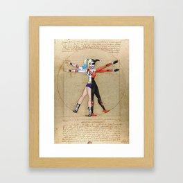 Vitruvian Harley Framed Art Print