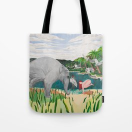BORN ON THE WETLANDS Tote Bag