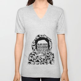 Trayvon Martin - Black Lives Matter - Series - Black Voices Unisex V-Neck