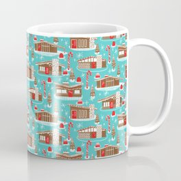 Mid Century Modern Gingerbread Houses Coffee Mug