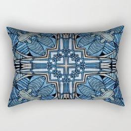 blue symmetric fantasy pattern II Rectangular Pillow