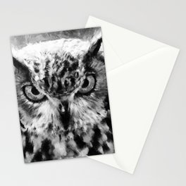 owl look digital painting orcbw Stationery Cards