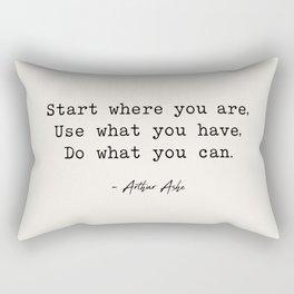 Start Where You are - Arthur Ashe Rectangular Pillow