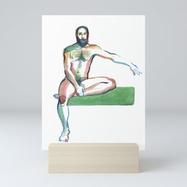 JUSTIN, Nude Maleby Frank-Joseph Mini Art Print