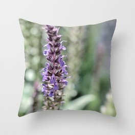 Vintage Purple Throw Pillow