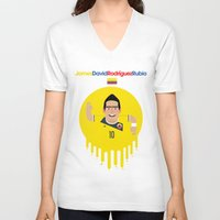 colombia V-neck T-shirts featuring James Rodriguez - Colombia by Gary  Ralphs Illustrations