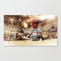ohio state Canvas Prints featuring Ohio State by Rosaria B