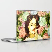 ultraviolence Laptop & iPad Skins featuring Hydranges and Peyote by Robert Red ART