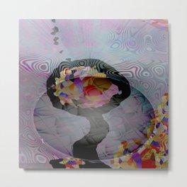 Space Flower Metal Print