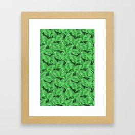 Tropical Jungle Palm Leaves Canopy Framed Art Print