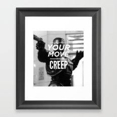 Robocop Typography Framed Art Print