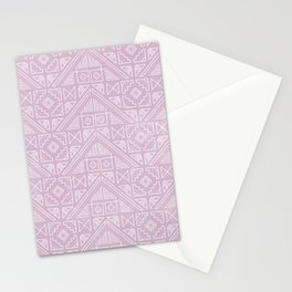 Stamped Geometric - Lilac Stationery Cards