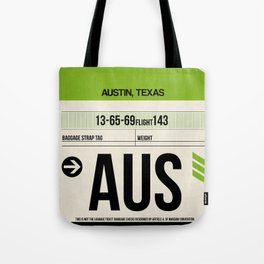 AUS Austin Luggage Tag 1 Tote Bag
