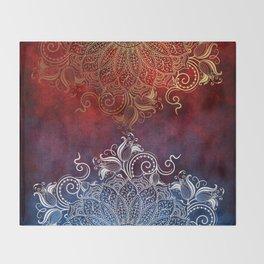Mandala - Fire & Ice Throw Blanket