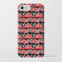 maori iPhone & iPod Cases featuring Kowhaiwhai Traditional Maori Koru Pattern by mailboxdisco