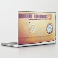 vw bus Laptop & iPad Skins featuring vw by shannonblue