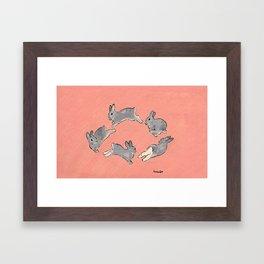 I love you who run around Framed Art Print