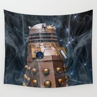 dalek Wall Tapestries featuring Dalek by Steve Purnell