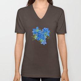 Olowalu Hibiscus Hawaiian CamoAloha Shirt Print  Unisex V-Neck