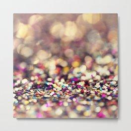 Rainbow Sprinkles - an abstract photograph Metal Print