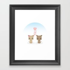 Lovely Dog Framed Art Print