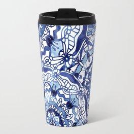 Delft Blue Mandalas Travel Mug