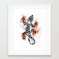 lizard Framed Art Prints featuring Lizard by Sitchko Igor