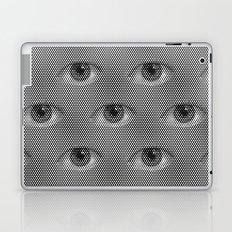 Pop-Art Black And White Eyes Pattern Laptop & iPad Skin