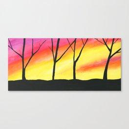 Brilliant Sky, Dark Trees Canvas Print
