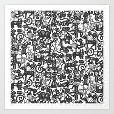 paper zodiac graphite Art Print