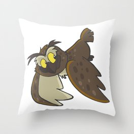 Avery the Owl Throw Pillow