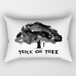 Trick or tree (B+W) Rectangular Pillow